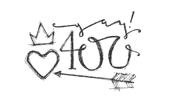 yay 400!
